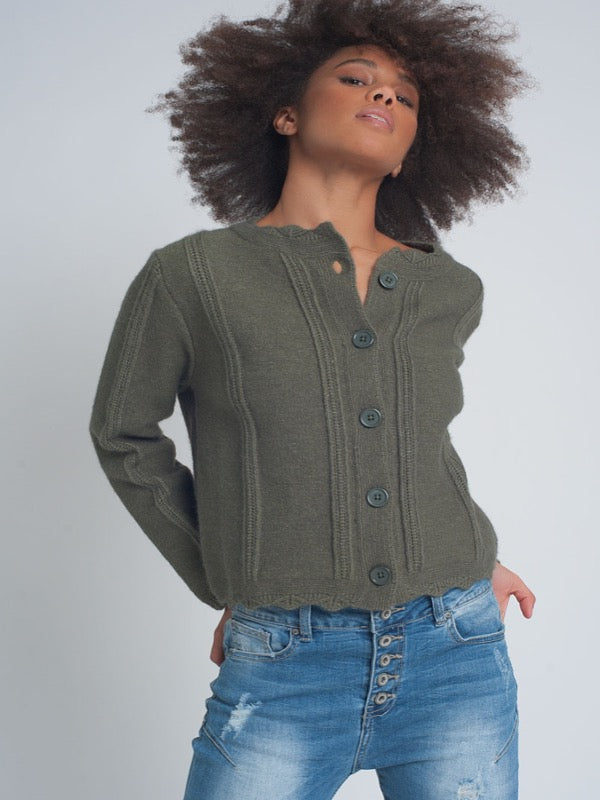 Vintage Inspired Crop Cardigan-FINAL SALE - Lark & Lily Boutique