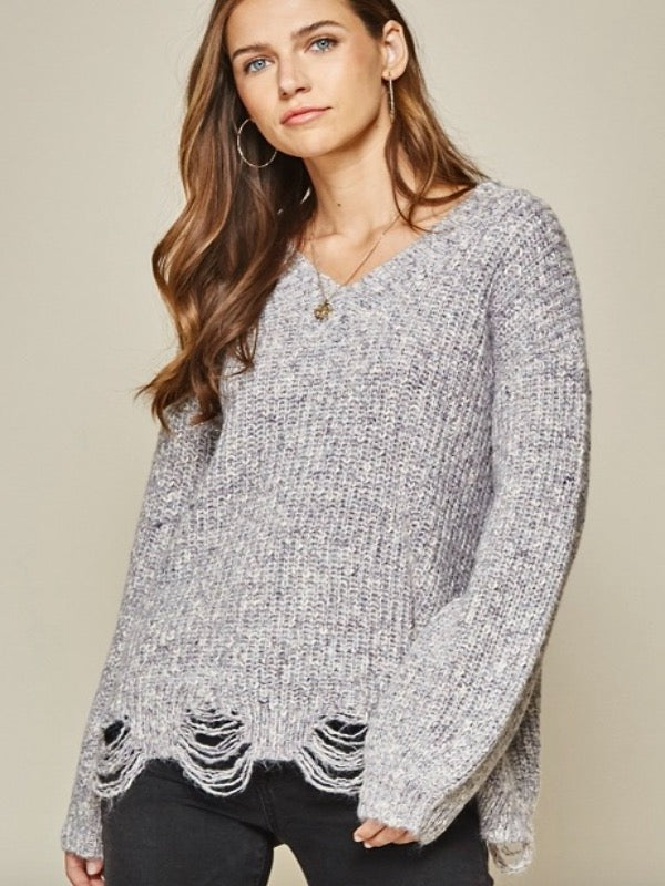 Jacques Distressed Knit Sweater