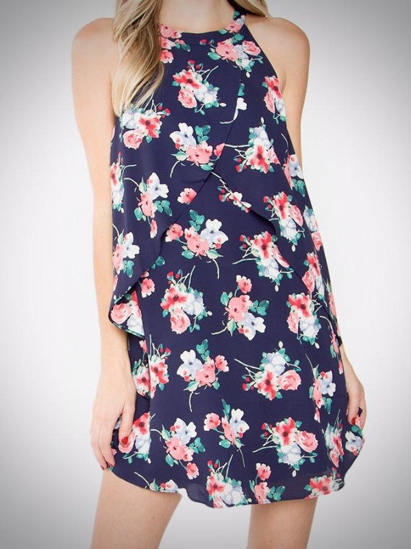 Charlene Floral Ruffle Dress