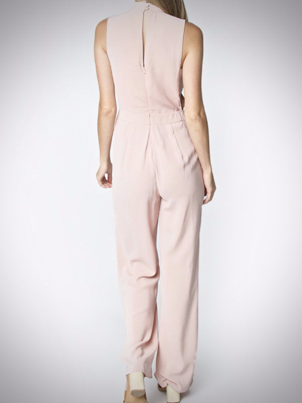 Olivia Mock Neck Jumpsuit