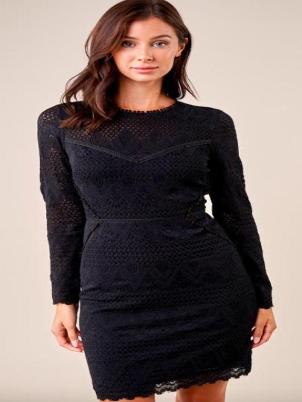 Flirting Fate Lace Bodycon Dress