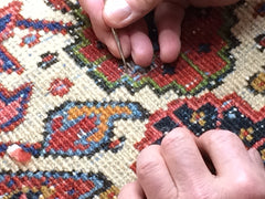 Persian rug repair, antique rug repair, vintage rug restoration