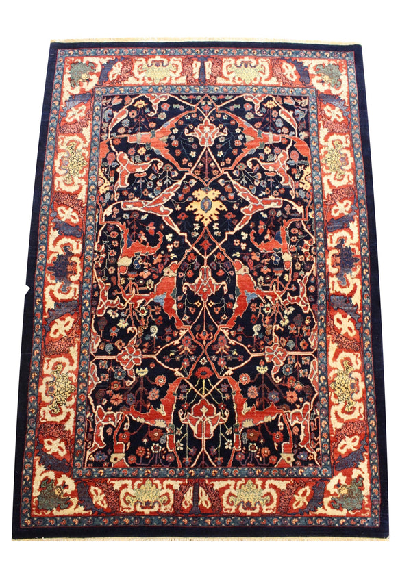 "4'9""x6'9"" Bijar Arabesque"