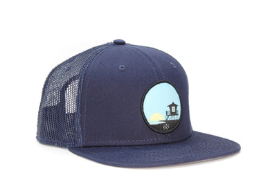 Tower 33 Blue Trucker Hat Blue Mesh