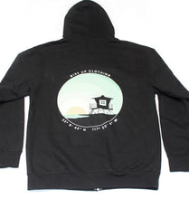 Load image into Gallery viewer, Front Zip Tower 33 Black Hoodie