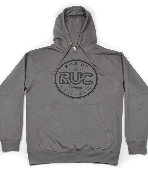 RUC Pullover Charcoal Hoodie.