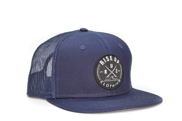 Blue Crossing Surfboards Trucker Hat Blue Mesh
