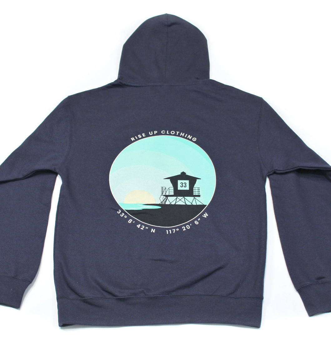 Pullover Midnight Blue Tower 33 Hoodie