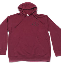 Load image into Gallery viewer, RUC Burgundy Pullover Hoodie.