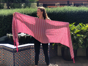 Mexican Rebozo Shawl - Strawberry Love - Rebozo Shop Lola My Love