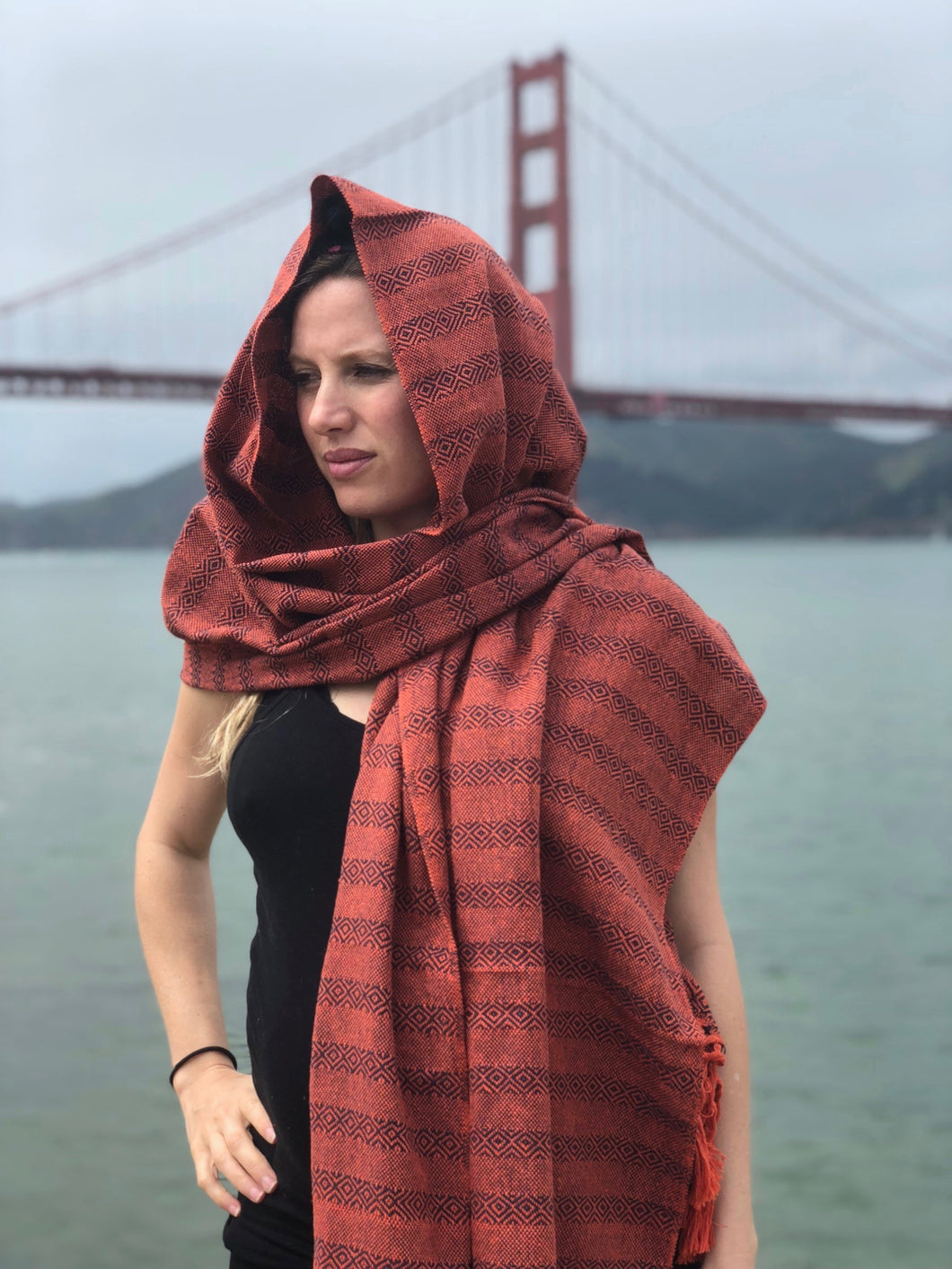 Mexican Rebozo Shawl - Golden Gate - Rebozo Shop Lola My Love