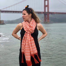 Mexican Rebozo Shawl - Orange Blossom - Rebozo Shop Lola My Love