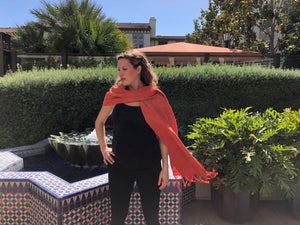 Mexican Rebozo Shawl - Orange Juicy - Rebozo Shop Lola My Love