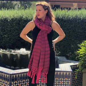 Mexican Rebozo Shawl - Strawberry Fields - Rebozo Shop Lola My Love