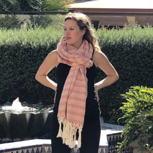 Mexican Rebozo Shawl - Orange Sunrise - Lola My Love