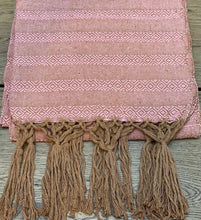 Mexican Rebozo Shawl - Light Pink Yute Mexicano
