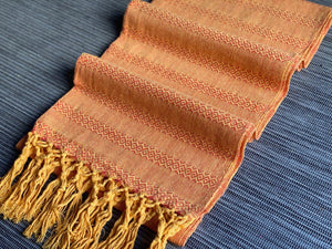 Mexican Rebozo Shawl - Honey Orange - Rebozo Shop Lola My Love