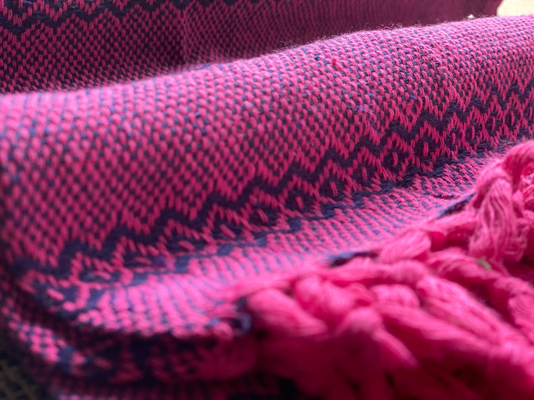 Mexican Rebozo Shawl - Berry Milkshake - Rebozo Shop Lola My Love