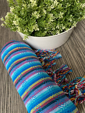 Mexican Rebozo Shawl - Heaven Rainbow