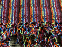 UNIQUE PIECE Mexican Rebozo Shawl - Brown Rainbow - Rebozo Shop Lola My Love