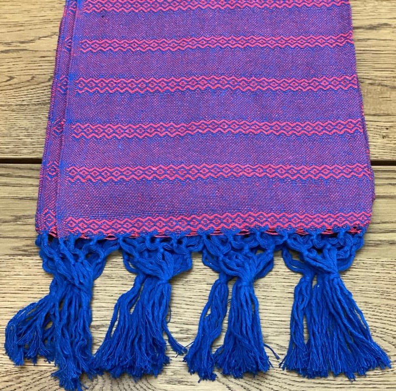 Mexican Rebozo Shawl - Blueberry Sorbet - Lola My Love