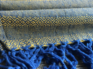 Mexican Rebozo Shawl - Blue Heaven - Lola My Love