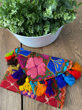 Embroidered Woven Clutch Bag - Alice's Garden