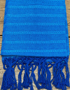 Mexican Rebozo Shawl - Blue Blues