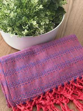 Mexican Rebozo Shawl - Mamey & Berries