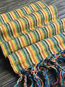 Mexican Rebozo Shawl - Yellow Rainbow - Rebozo Shop Lola My Love