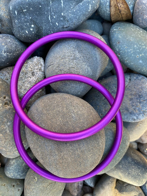 Large Aluminum Sling Ring - Purple Rebozo Shop Lola My Love