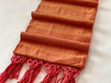 Mexican Rebozo Shawl - Orange Bliss