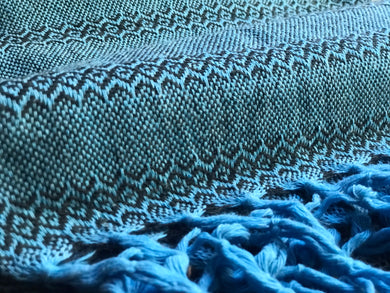 Mexican Rebozo Shawl - Blue Stone - Rebozo Shop Lola My Love