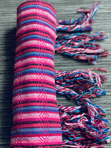 Mexican Rebozo Shawl - Rosa Bliss Rainbow - Rebozo Shop Lola My Love