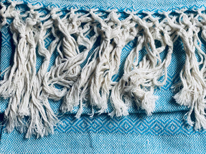 Mexican Rebozo Shawl - Blue Bliss - Rebozo Shop Lola My Love