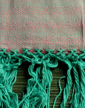 Mexican Rebozo Shawl - Aqua Pink - Rebozo Shop Lola My Love