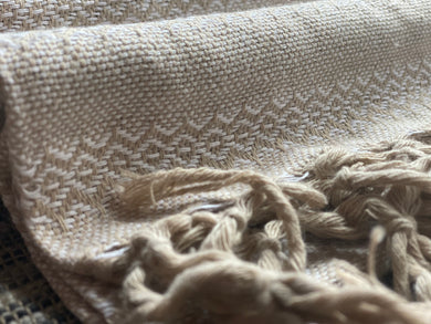 Mexican Rebozo Shawl - Sweet Cream
