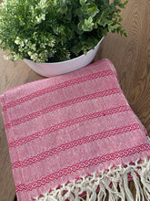 Mexican Rebozo Shawl - Strawberry Smoothie - Lola My Love