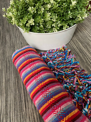 Mexican Rebozo Shawl - Passion Rainbow