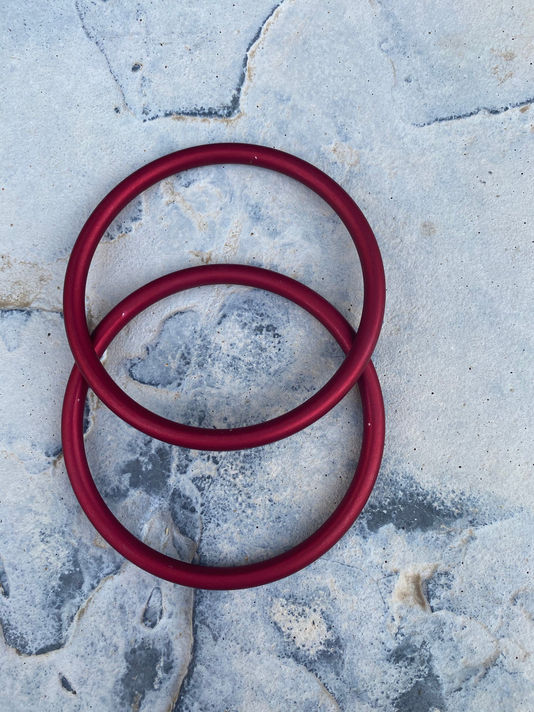 Large Aluminum Sling Ring- Red