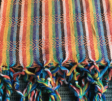 Mexican Rebozo Shawl - Bright Orange Rainbow - Rebozo Shop Lola My Love