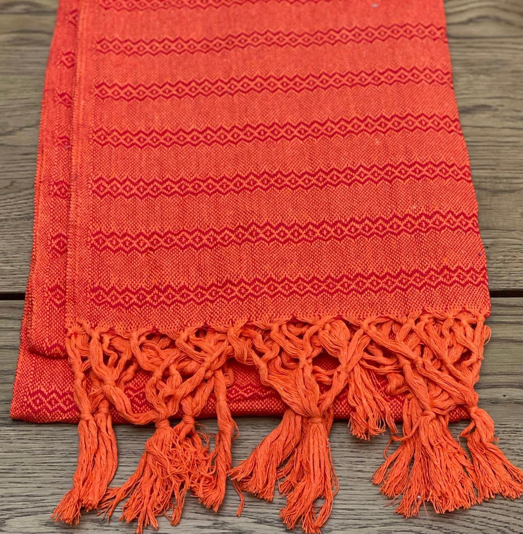 Mexican Rebozo Shawl - Orange Expression