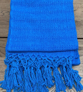 Mexican Rebozo Shawl - Blue Duet
