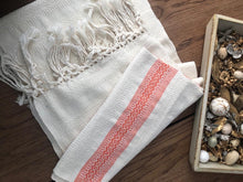 Mexican Motif Rebozo Shawl - White Sunrise Rebozo Shop Lola My Love