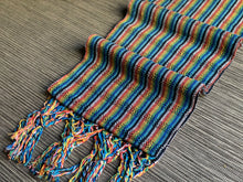 Mexican Rebozo Shawl - Black Incense Rainbow - Rebozo Shop Lola My Love