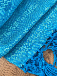 Mexican Rebozo  Shawl & Baby Carrier - Blue Aqua
