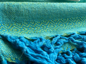 Mexican Rebozo Shawl - Sky Blue Highlights - Rebozo Shop Lola My Love