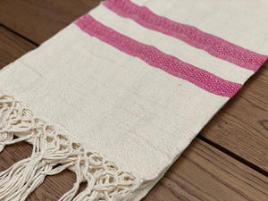 Mexican Motif Rebozo Shawl - Frosty Raspberry Rebozo Shop Lola My Love
