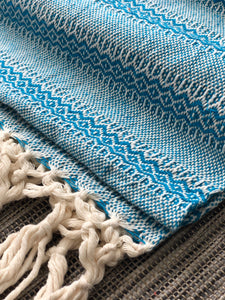 Mexican Rebozo Shawl - Blue Dreams - Lola My Love