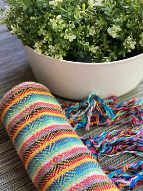 Mexican Rebozo Shawl - Happy Rainbow - Rebozo Shop Lola My Love